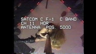 C-Band satellite channel tuning recording 1993 - Satcom, Spacenet