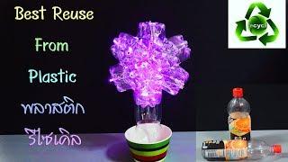 DIY สุดยอดโคมไฟจากขวดพลาสติกเหลือใช้.DIY Best Creative Ideas From Plastic Recycle.