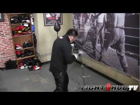 Brandon Rios vs. Mike Alvarado 2: Rios double end bag workout (HD) Image 1