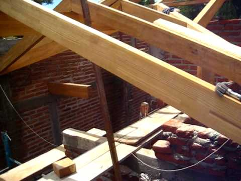 Techo de madera marcia r youtube - Como hacer un altillo de madera ...