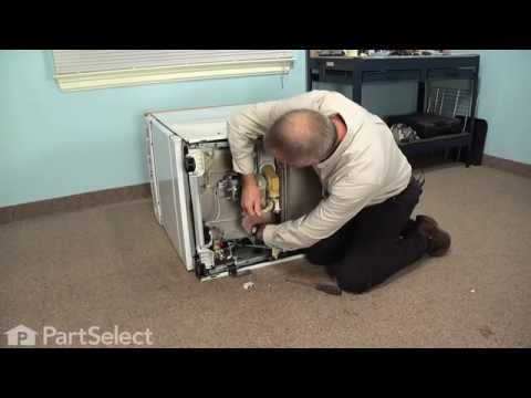 Dishwasher Repair – Replacing Drain Valve Shaft Seal & Push On Nut (GE Part # WD8X181 and WR2X7054 )