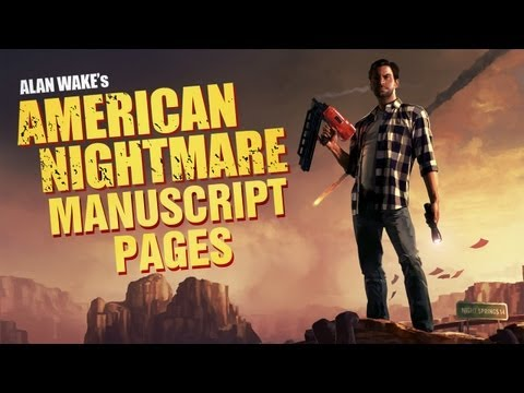 Alan Wakes American Nightmare Manuscript Pages Locations Collectibles One Day I'll Buy a Stapler