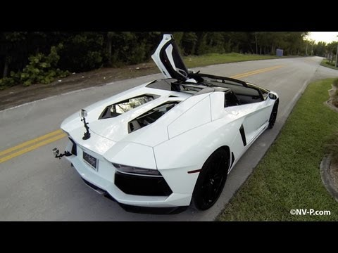 Aventador Roadster POV Driving and Roof Removal