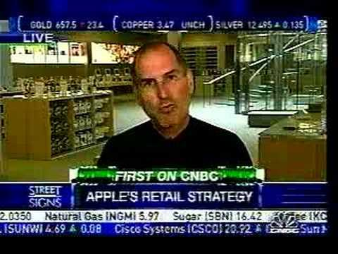 Steve Jobs CNBC Interview, 5th Ave. Apple Store