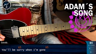 Como tocar Adam's Song en Guitarra BLINK 182 | Tutorial COMPLETO