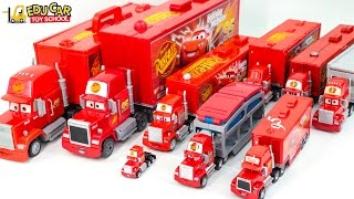 Learning Color Number with Special Disney Pixar Cars Lightning McQueen Mack Truck for kids car toys