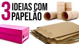 DIY - 3 Ideias Incríveis para Reciclar Papelão