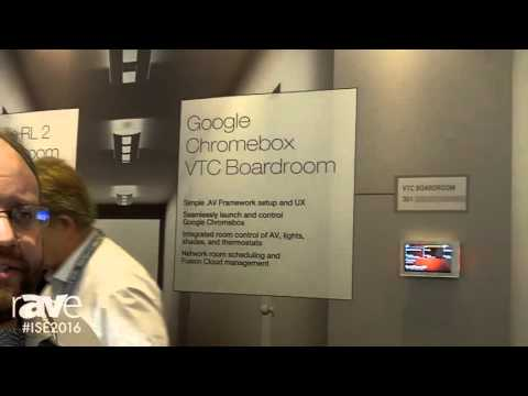 ISE 2016: Crestron Electronics Showcases VTC Boardroom Featuring Google Chromebox for Meetings