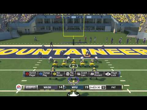 West Virginia vs. Washington   NCAA Football 14 Online Ranked Match - CHEESER IS CHEESED