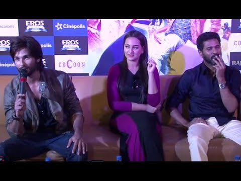 Shahid Kapoor, Sonakshi Sinha & Prabhu Dheva Promoting 'R...Rajkumar' In Pune