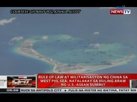 Rule of law at militarisasyon ng China sa West PHL Sea, natalakay