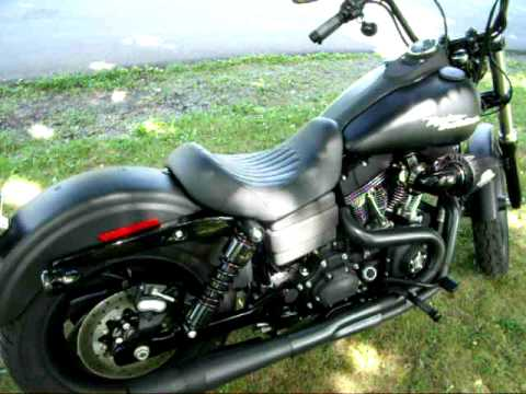 2008 Harley Davidson Dyna Street Bob (FXDB) with Thunderheader exhaust Video