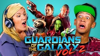 ADULTS REACT TO GUARDIANS OF THE GALAXY VOL 2 TRAILER