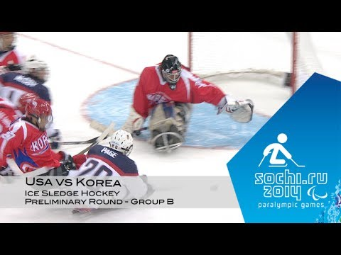 Usa Vs Korea Highlights | Ice Sledge Hockey | Sochi 2014 Paralympic Winter Games video