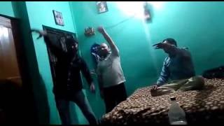 Indian Boys party With Girls Enjoying Drink Dance And Masti