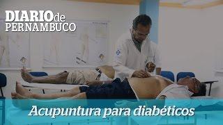 Tratamento de diabetes com a t�cnica da acupuntura