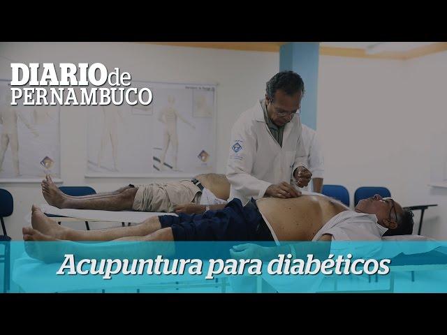 Tratamento de diabetes com a técnica da acupuntura