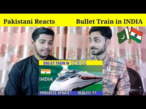 Pakistani Reacts To | Bullet Train in INDIA | Progress Update | Reality | REACTIONS TV