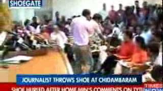 Shoe gets thrown at Indian Home Minister