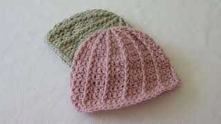 Download VERY EASY crochet cable baby hat / beanie tutorial 3Gp Mp4