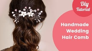 How To Make A Wedding Hair Comb - Gilda vlogs