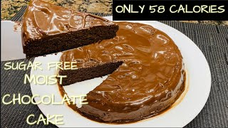 LOW CALORIE SUPER MOIST CHOCOLATE CAKE | KETO AND LOW CARB DIET
