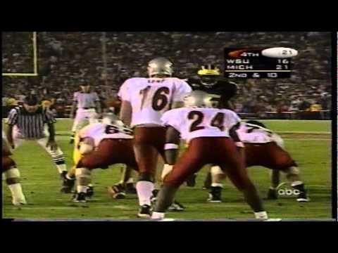 1998 rose bowl MICHIGAN vs RYAN LEAF and WSU