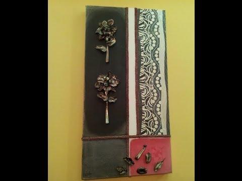Cuadro moderno con flores de cucharillas youtube - Manualidades cuadros modernos ...