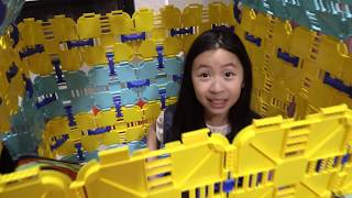 Pretend Play Police LOCKED UP Kaycee in Jail Playhouse - Kaycee ESCAPE JAIL