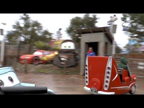 Cars Quatre Roues Rallye - Disneyland Paris HD Complete Ridethrough Onride Race Rally
