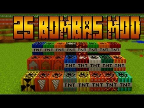 +25 Bombas!! NUCLEAR MOD - MINECRAFT Mod