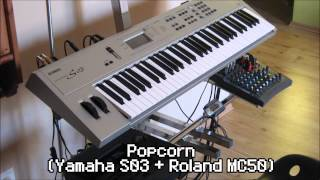 Popcorn (cover) - Yamaha S03 + Roland MC50