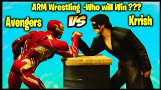 krrish vs Avengers | Arm Wrestling - Who would win ??