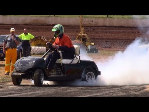 Hayabusa Powered Golf Cart Burnout