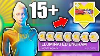 Destiny 2 - OPENING 15+ ILLUMINATED ENGRAMS! (Destiny 2 EVERVERSE ENGRAM OPENING)