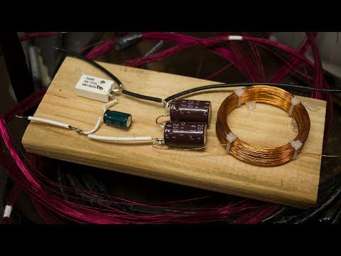 Speaker Crossover & Hand-Wound Inductor Coil Made From Trash - Extremely Temporary Prototype!