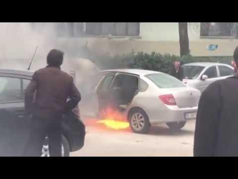 LPG'li Araç Alevlere Teslim Oldu