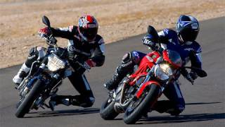 2009 Aprilia Shiver vs Ducati Monster 696 - MotoUSA