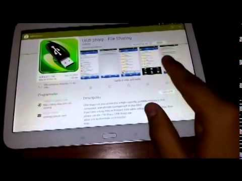 Galaxy Tab 3 Como conectar un USB via cable OTG   YouTube