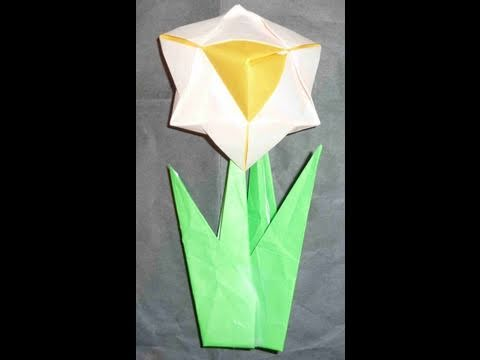 how to make easy 3d origami flower daffodil narciss y6u