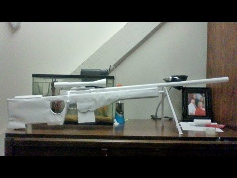 How To Make a Paper Sniper Rifle L96a1 Tutorial part 2