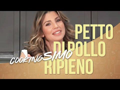 Simona Ventura in CookingSimo ospite CLAUDIA GALANTI: petto di pollo ripieno.