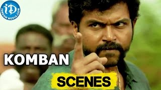Komban Movie || Karthi Superb Action Scene || Karthi, Thambi Ramaiah