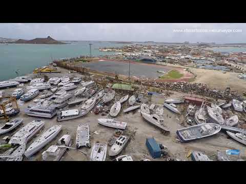 Irma yachting damages Marigot St Martin French side