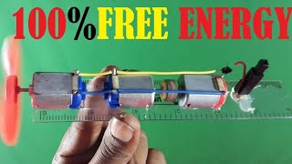 Free energy 100% , Free energy self running machine , science school project
