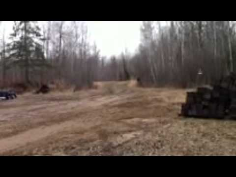 Bigfoot Sighting Reenactment from near Bagley MN