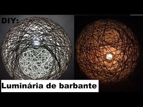 DIY: Luminária de Barbante
