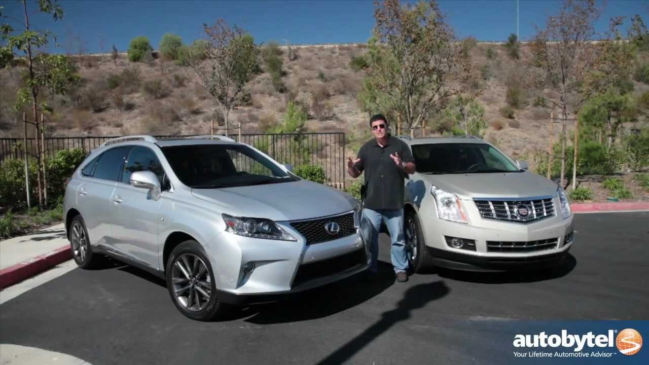 lexus rx 350 f sport vs cadillac srx luxury crossover suv. Black Bedroom Furniture Sets. Home Design Ideas