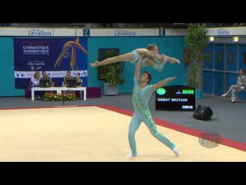 GREAT BRITAIN Mixed Pairs - Balance Qualifications  -- 2014 Acrobatic Worlds, Levallois-Paris (FRA)