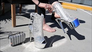 Review Pleaser-ADORE-1018DCS Diamond Cut Rhinestone Fashion Boots with 7 Inch Silver Chrome Heel